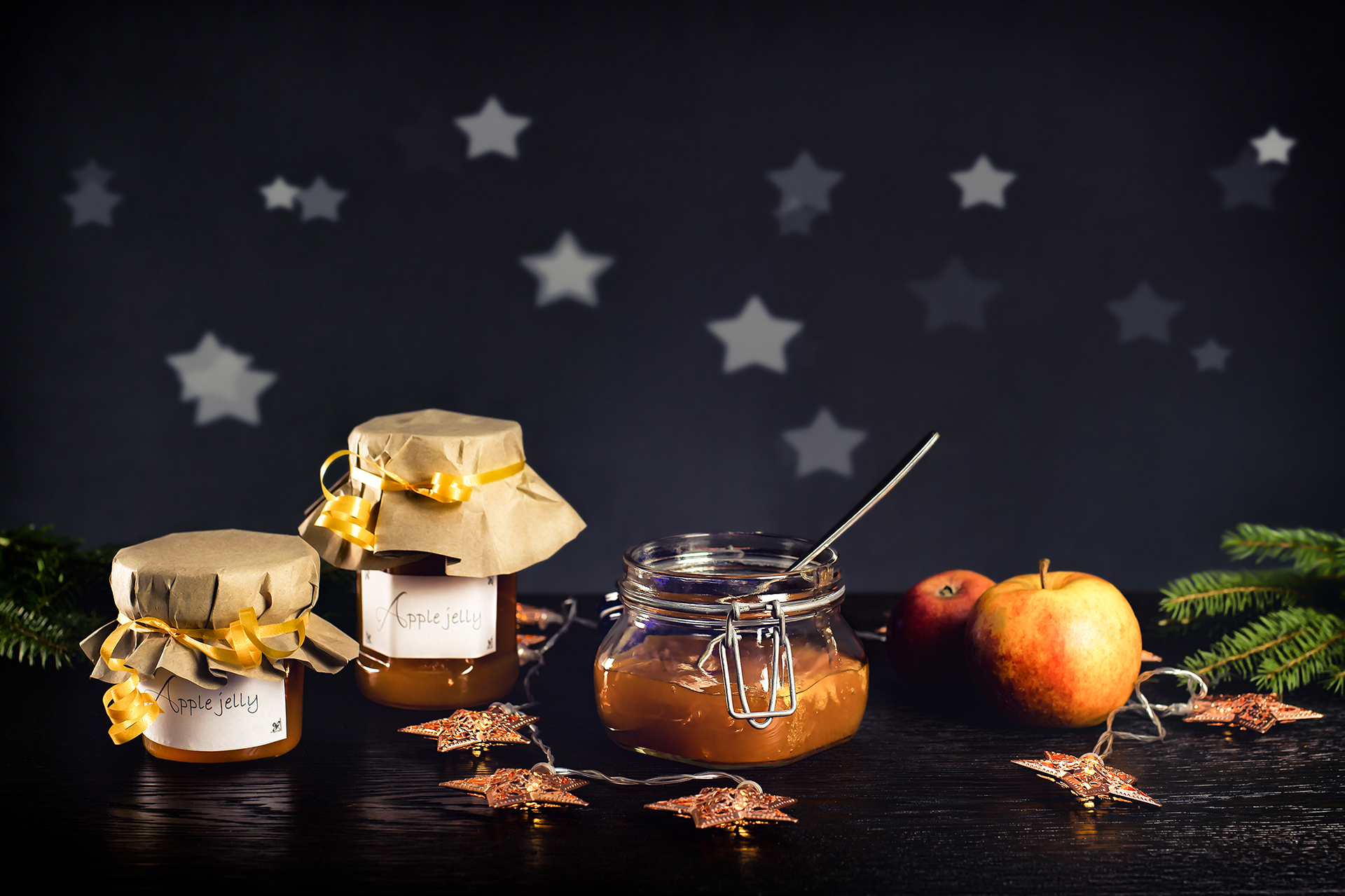 Apple jelly for Christmas